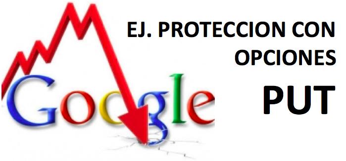 Protección con opciones PUT – Ej. GoogleL