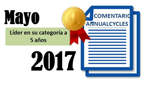 Mayo 2017 – Líder en su categoría a 5 años