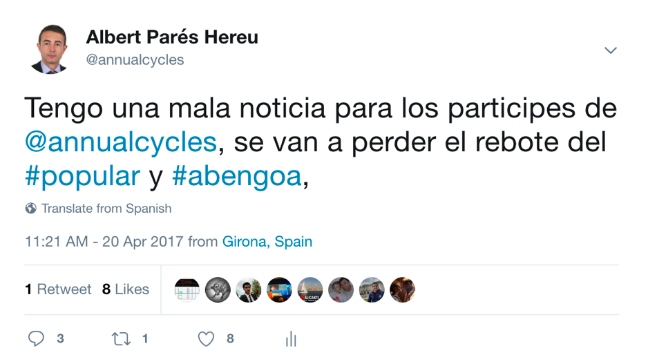 Tweet Annualcycles