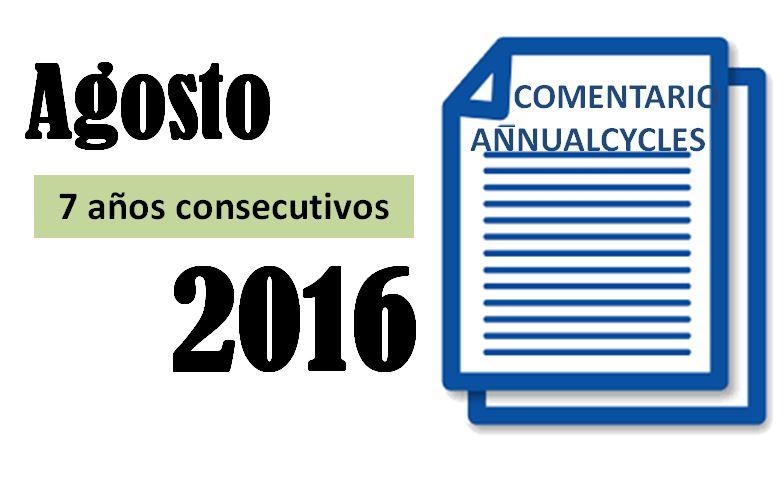 Agosto 2016 – 7 años consecutivos en positivo