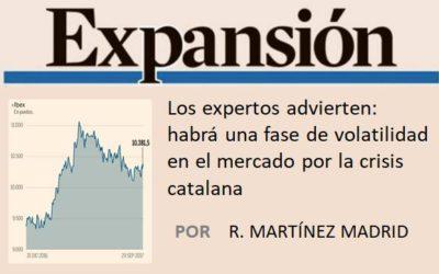 Los expertos advierten: habrá una fase de volatilidad en el mercado por la crisis catalana