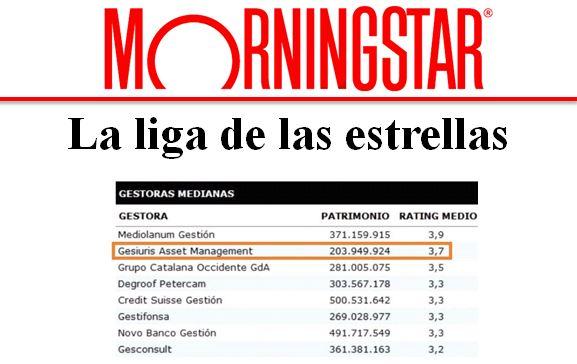 Gesiuris 2º en la liga de las estrellas – Morningstar