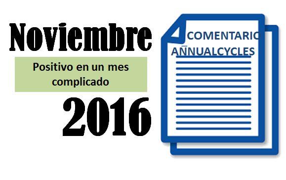 Noviembre 2016 – Positivo en un mes complicado